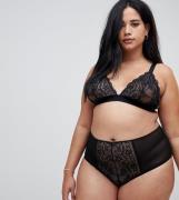 Sujetador de triángulo de encaje Roxy de ASOS DESIGN Curve