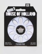 Uñas postizas Platinum Punk de House of Holland x Elegant Touch