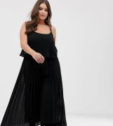 Mono largo plisado con top corto de ASOS DESIGN Curve